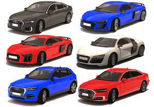 6 car audi 3D model