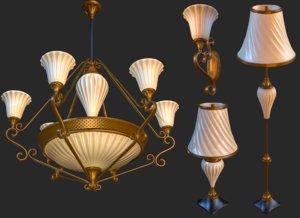 vintage light pack pbr 3D model