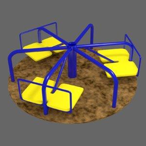 carousel playground 3D model