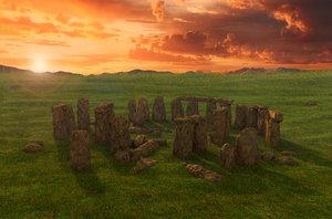 3D historic stonehenge stones