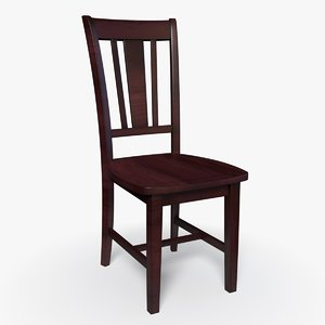 chair solid wood model