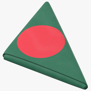 flag folded triangle bangladesh 3D model