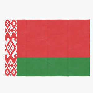 3D flag laying pose belarus model
