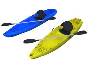 kayak boat 3D model