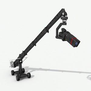 camera crane 2 3D model