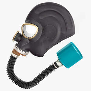 black rubber gas mask model