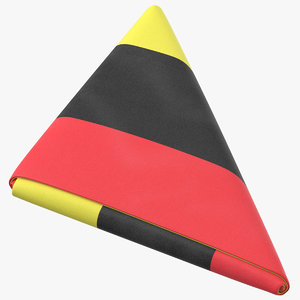 flag folded triangle belgium model