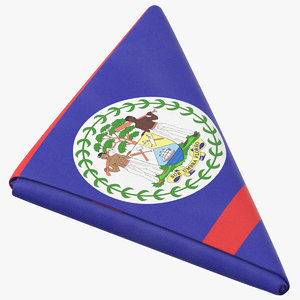 3D flag folded triangle belize