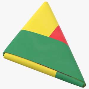 flag folded triangle benin 3D model