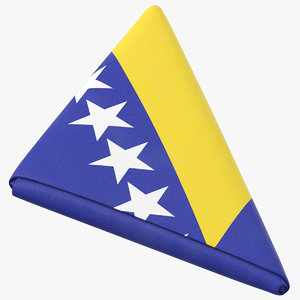 flag folded triangle bosnia 3D