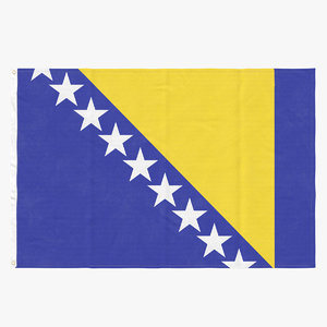 3D flag laying pose bosnia