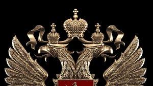 coat arms russia 3D
