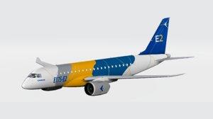 3D e-jet e175 color