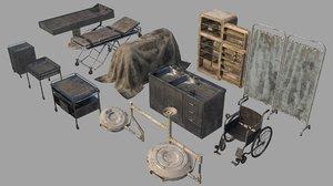 set horror pathologist room 3D model
