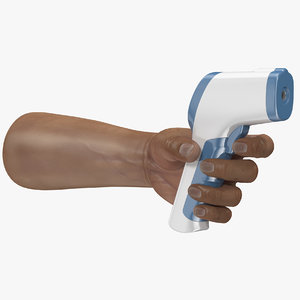 infrared forehead thermometer hand 3D