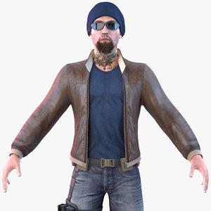 3D dude pbr 2020 model