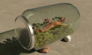 terrarium jar 3D model
