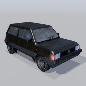 old rusty car vehicle 3D model