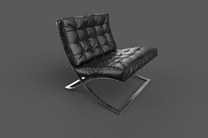 3D barcelona chair pbr