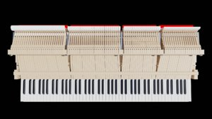 3D grand piano action