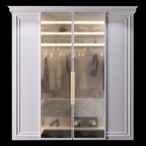 3D model wardrobe doors