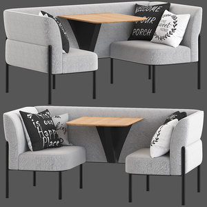 3D herman miller hue lounge furniture model