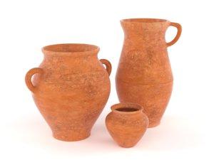 3D model clay jug