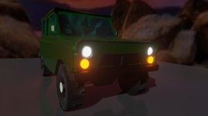 3D uaz jeep