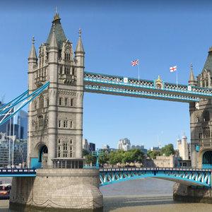 tower bridge architecture 3D model