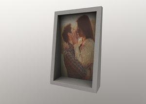 3D frame picture concrete