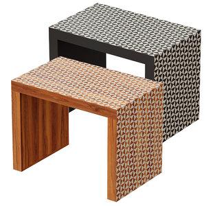 table black intarsia c 3D
