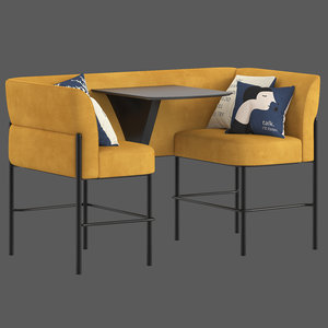 herman miller hue lounge furniture 3D