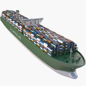 ship container cargo 3D model
