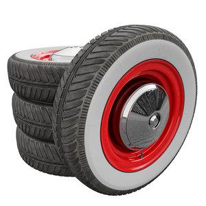 3D fiat 500 wheel model