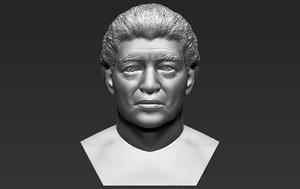 diego maradona bust printing 3D model