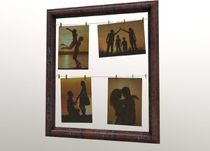 3D frame picture clothespins