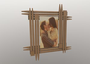 3D model frame picture straws