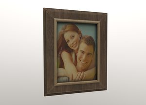 3D frame picture wooden model