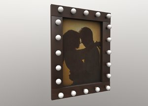 frame picture backlight 3D model