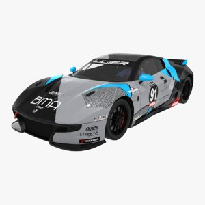 ligier js2 r orhes 3D model