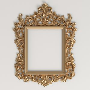 carved classic frame 3D model