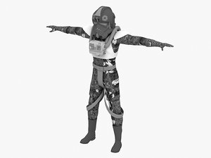 3D model shooting stormtrooper clone soldier