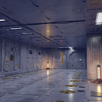 sci-fi set model and textures