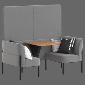 herman miller hue lounge furniture 3D model