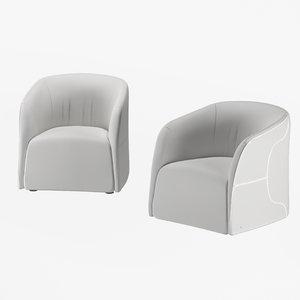 armchair natuzzi logos 3D model