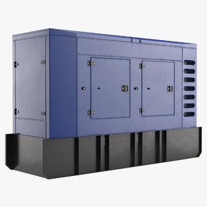 3D model big portable generator