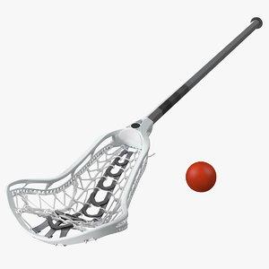 3D lacrosse stick ball