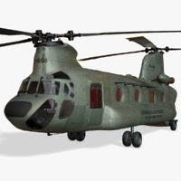 Heavy Transport Helicopter CH-47 Chinook US