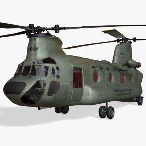 3D chinook ch-47 transport helicopter model