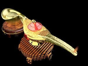 chinese magic lamp yuanbao 3D
